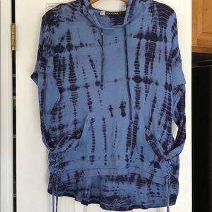 Volcom Ladies Medium Hoodie Shirt Weight Tie-dye